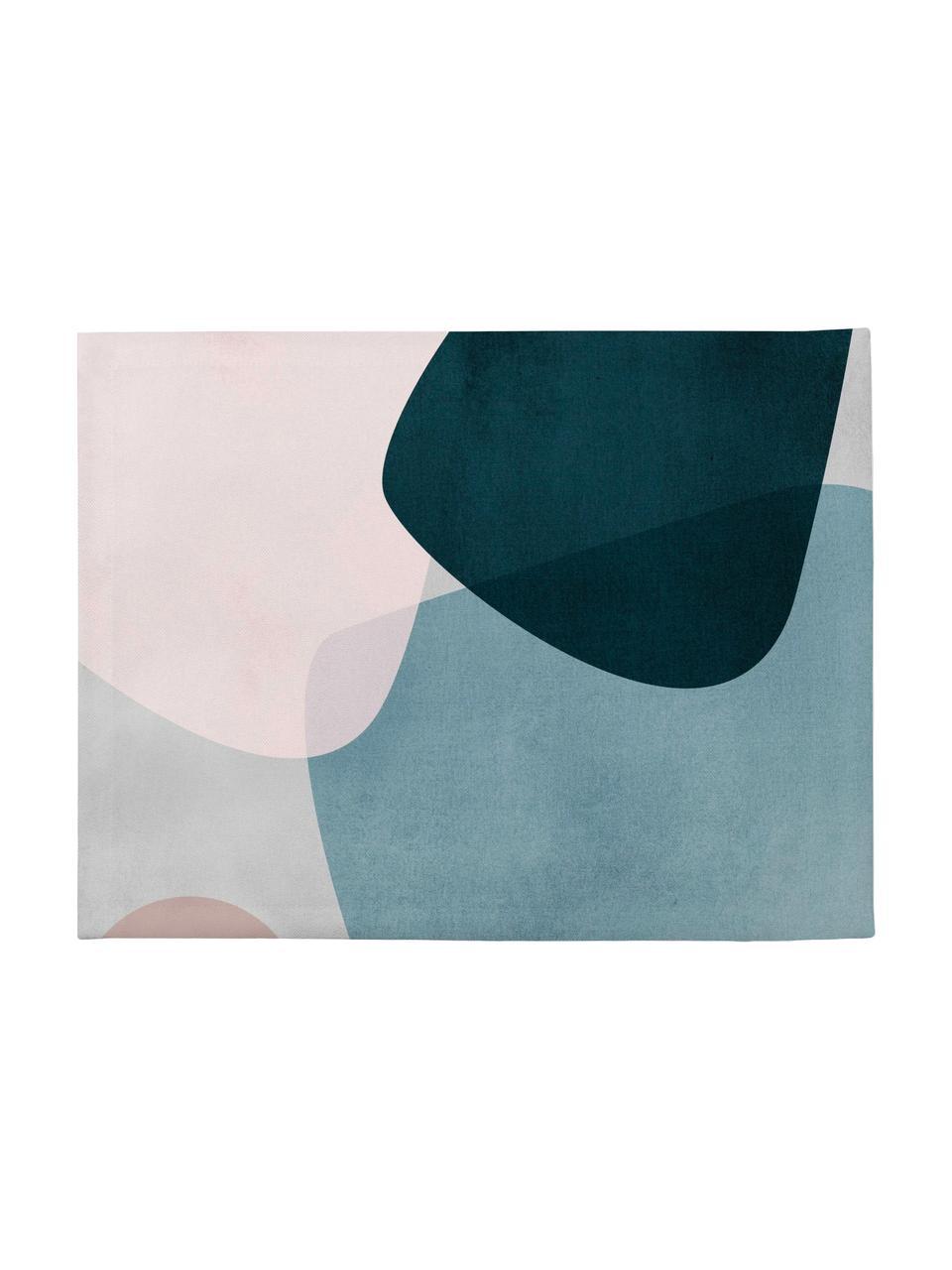 Tovaglietta americana Graphic 4 pz, Poliestere, Blu scuro, blu, grigio, rosa, Larg. 35 x Lung. 45 cm