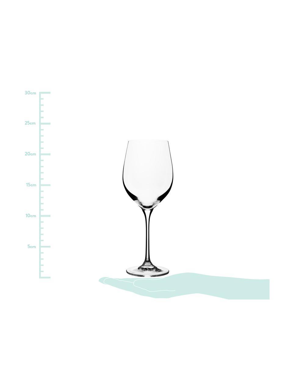 Copas de vino blanco de cristal Harmony, 6uds., Transparente, 390 ml