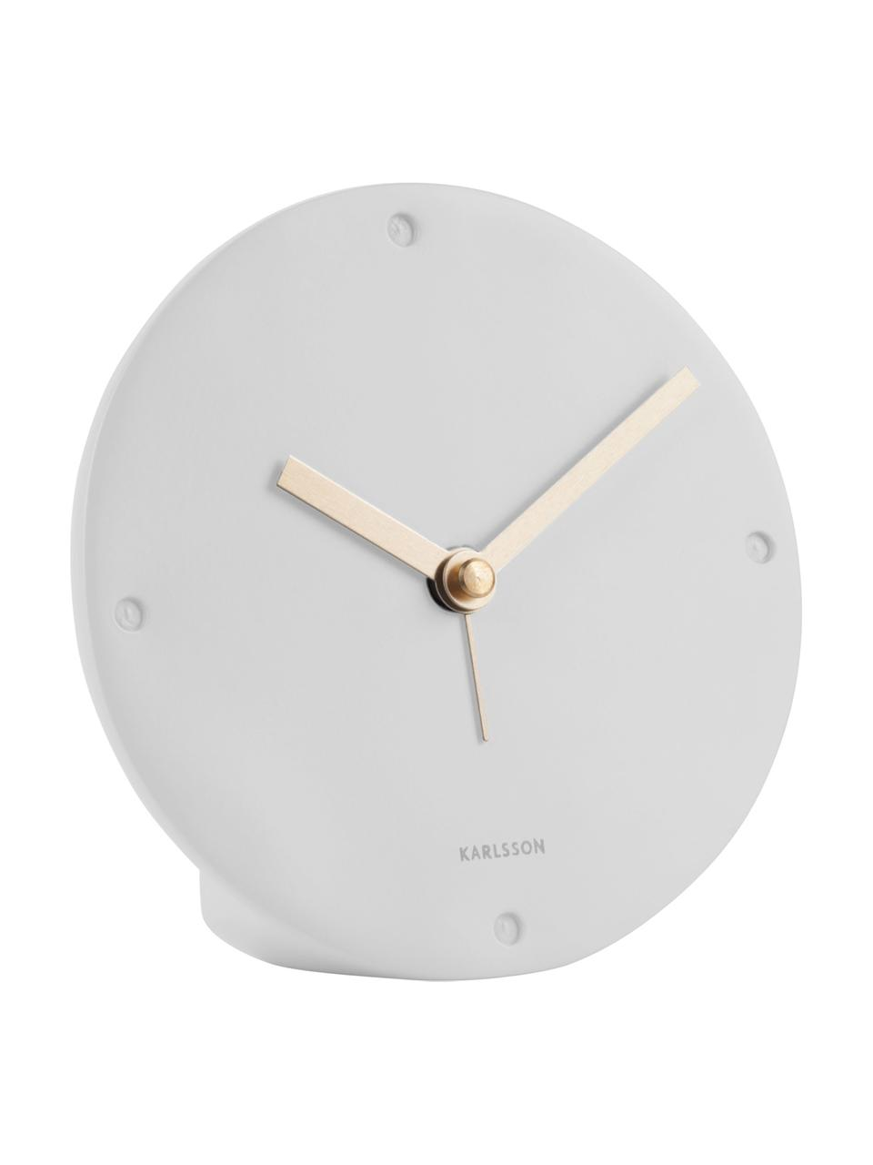 Despertador Mantel, Poliresina, Blanco, Ø 12 x F 3 cm