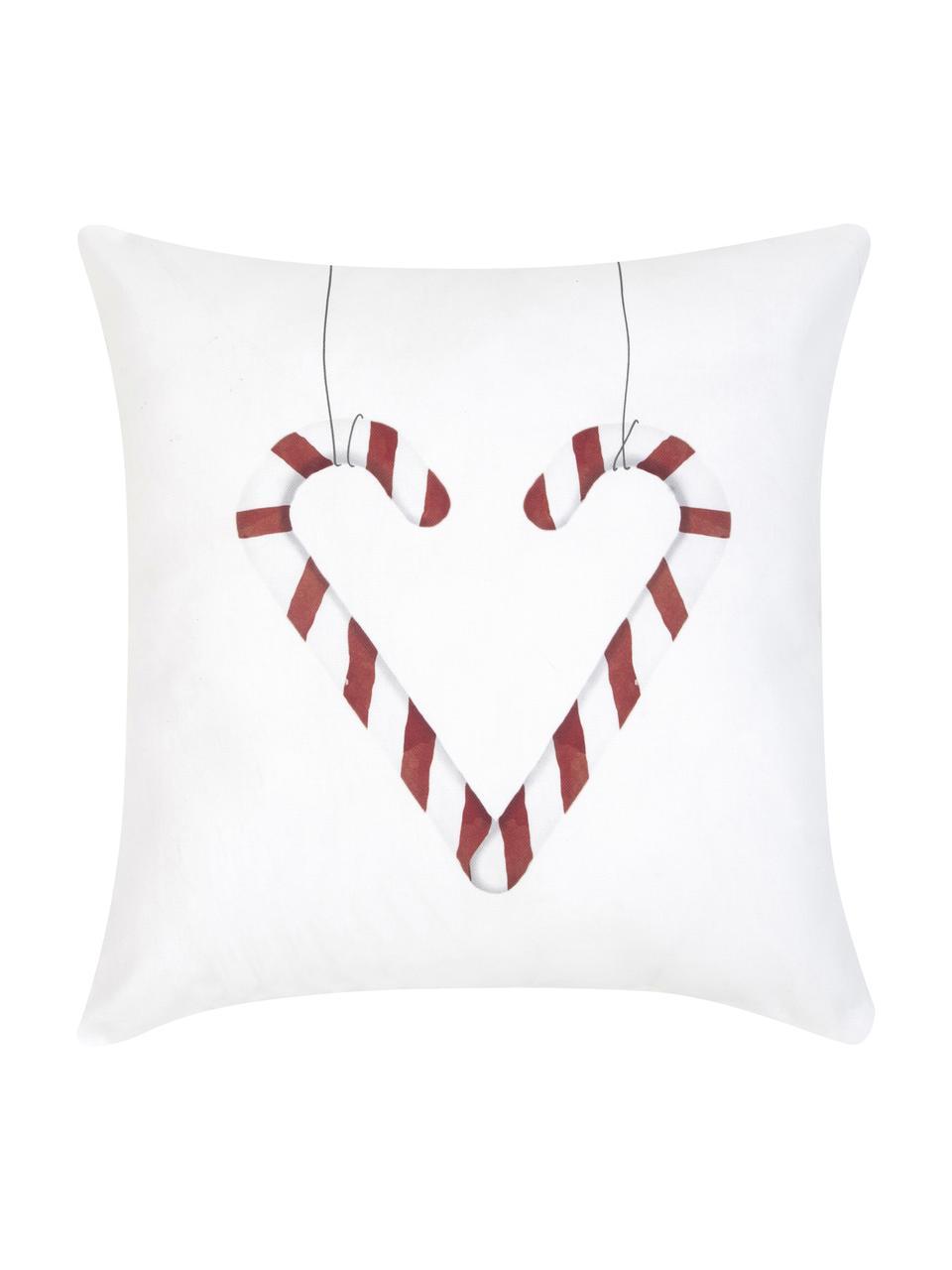 Funda de cojín Cupid, Algodón, Rojo, negro, blanco, An 40 x L 40 cm
