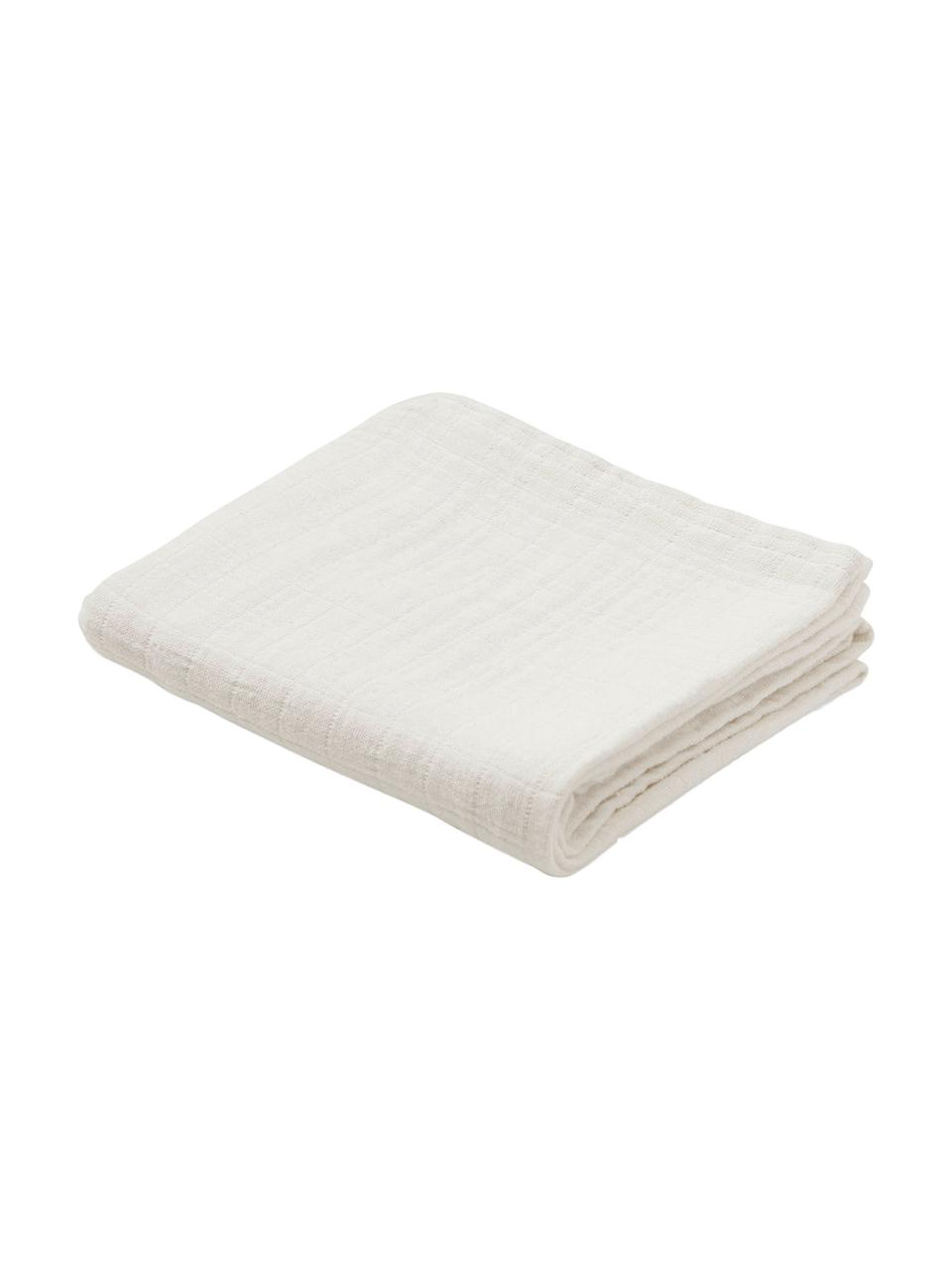 Mulltücher Muslin aus Bio-Baumwolle, 2 Stück, 100% Biobaumwolle, GOTS-zertifiziert, Creme, 70 x 70 cm