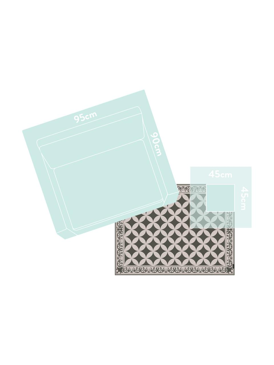 Vinyl-Bodenmatte Aladdin, Vinyl, recycelbar, Khaki, Beige, 65 x 85 cm