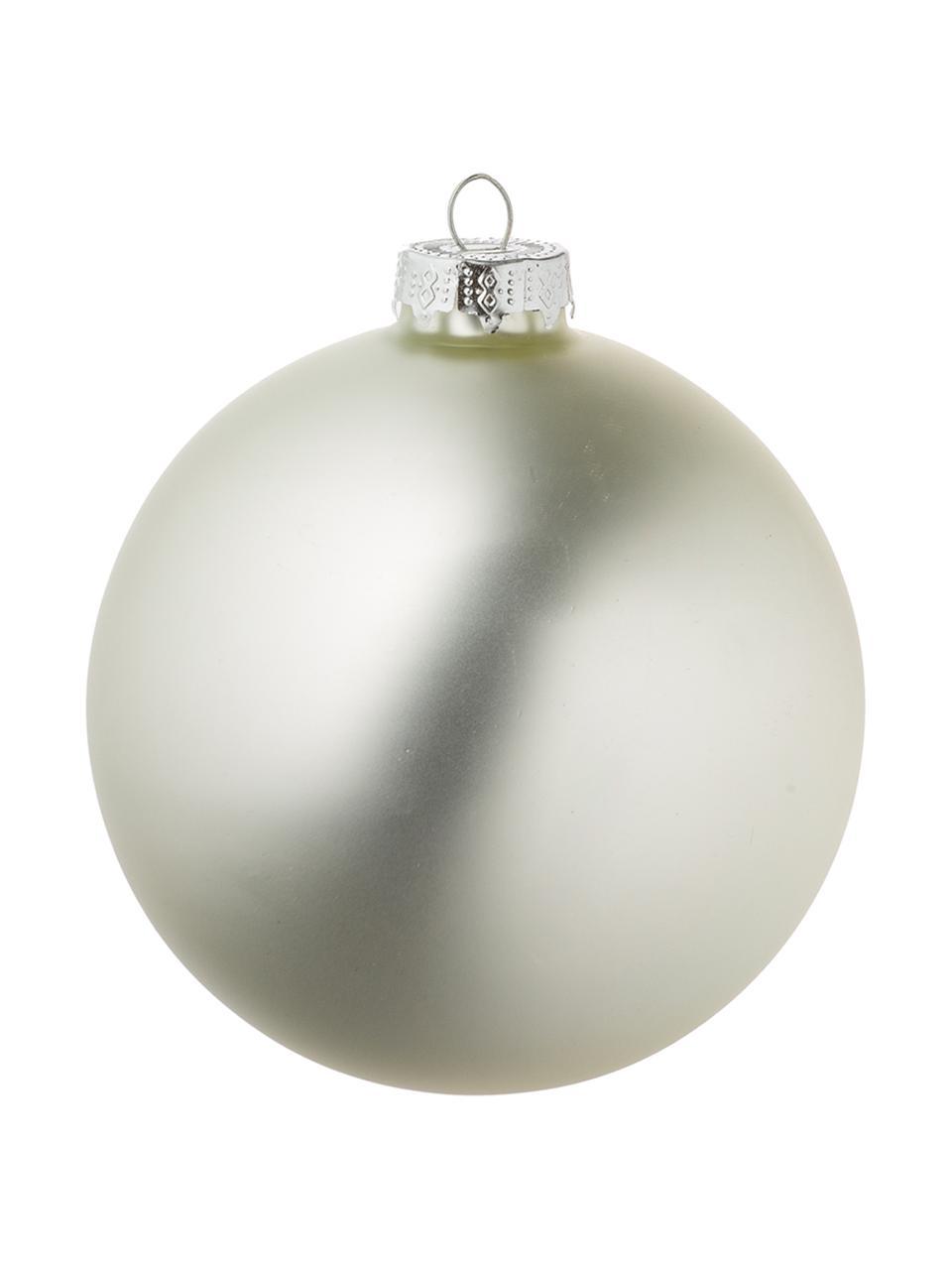 Set palline di Natale Roman, 8 pz., Vetro, Argento, Ø 10 cm