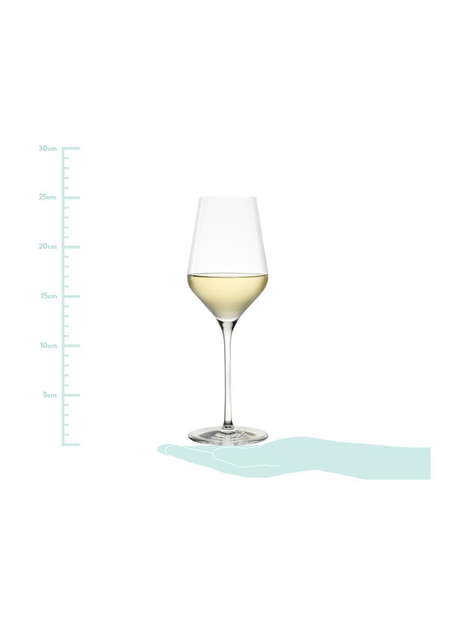Kristall-Weißweingläser Quatrophil, 6 Stück, Kristallglas, Transparent, Ø 8 x H 25 cm