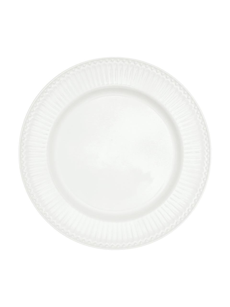 Assiettes plates en porcelaine Alice, 2pièces, Blanc