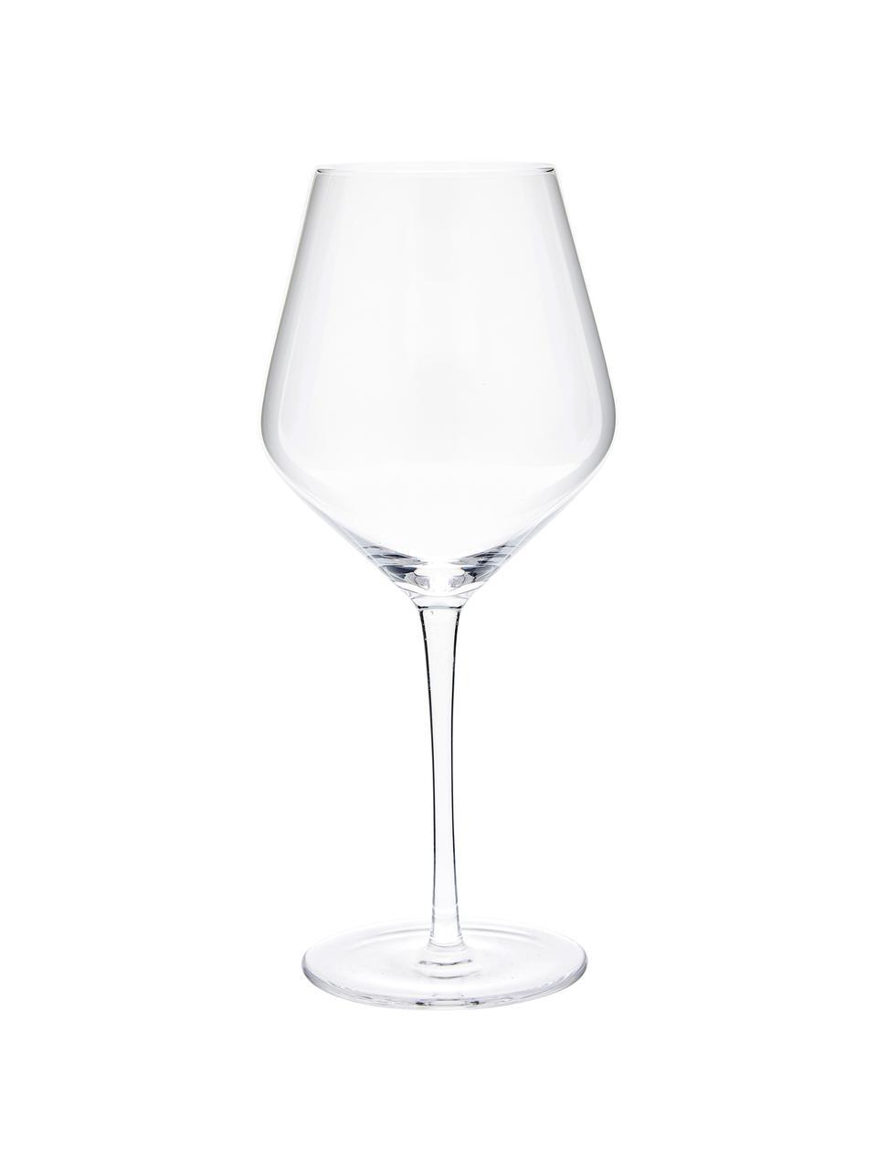 Verre à vin rouge soufflé bouche Ays, 4pièces, Transparent