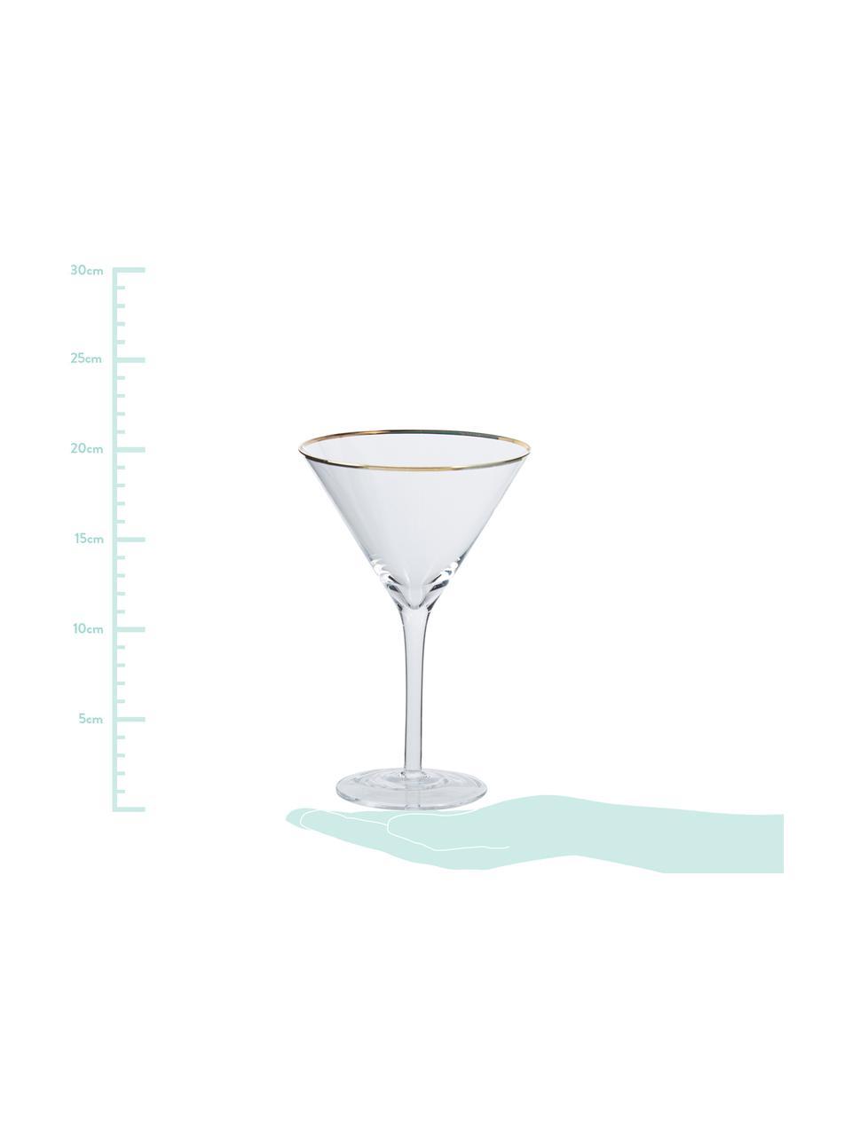 Bicchiere da martini Chloe 4 pz, Vetro, Trasparente, Ø 12 x Alt. 19 cm