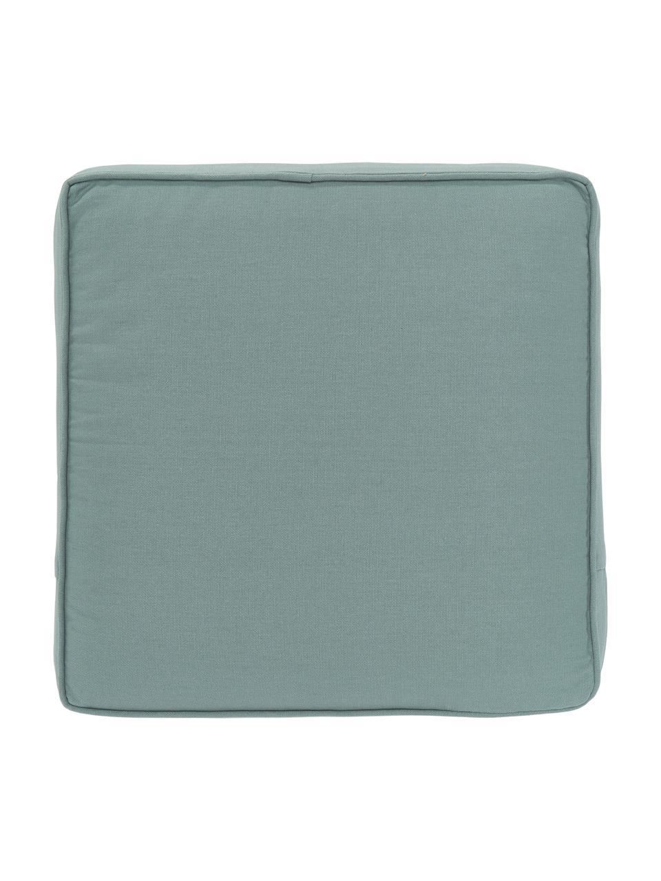 Cuscino sedia alto verde salvia Zoey, Rivestimento: 100% cotone, Verde, Larg. 40 x Lung. 40 cm