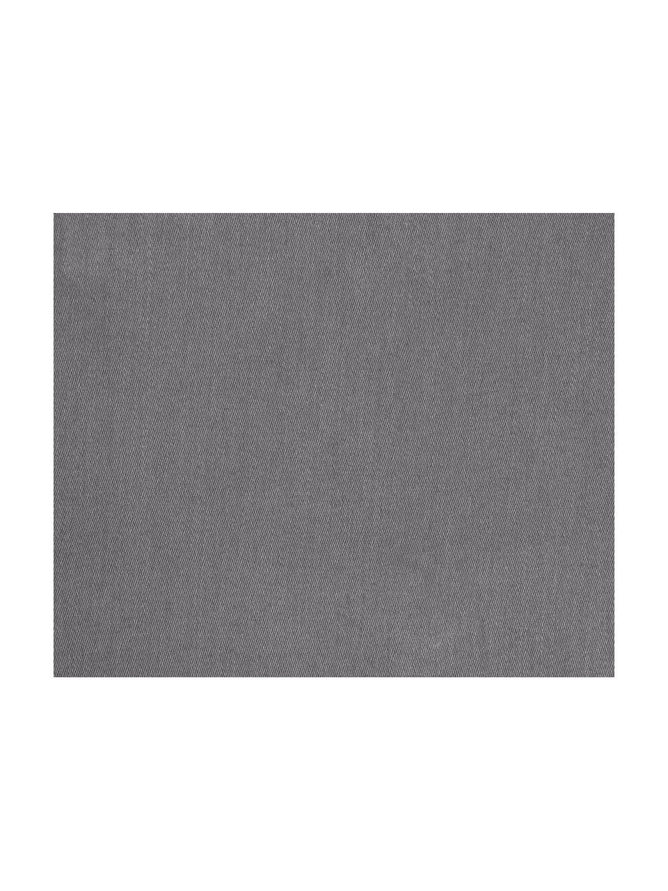 Pościel z satyny bawełnianej Comfort, Ciemny szary, 135 x 200 cm