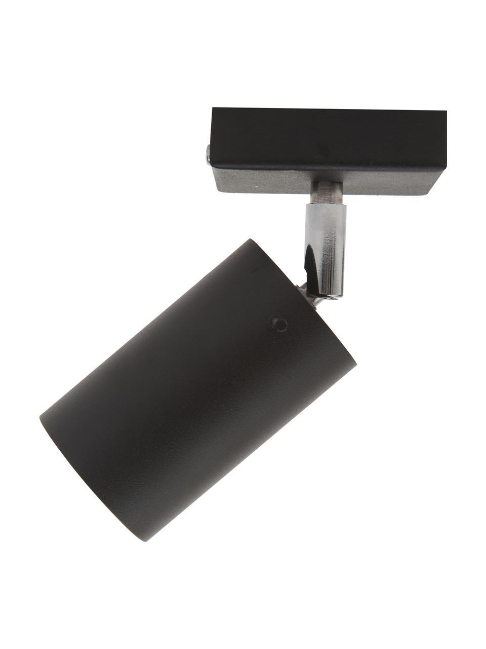 Faretto nero da parete e soffitto Etna, Paralume: acciaio verniciato, Struttura: metallo, Nero, Larg. 10 x Alt. 15 cm