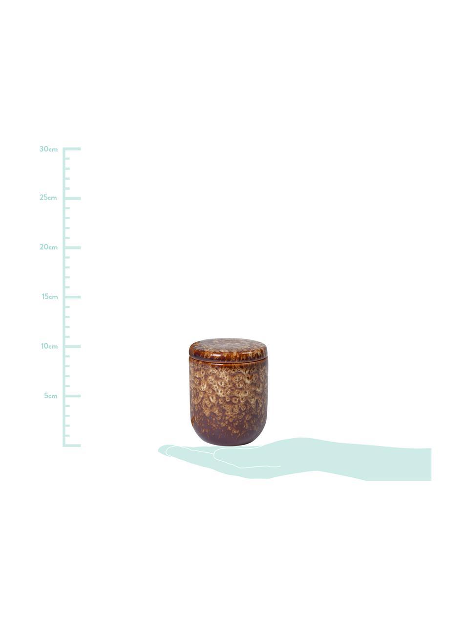 Candela profumata Spiced Amber (ambra), Contenitore: ceramica, Tonalità marroni, Ø 8 x Alt. 9 cm