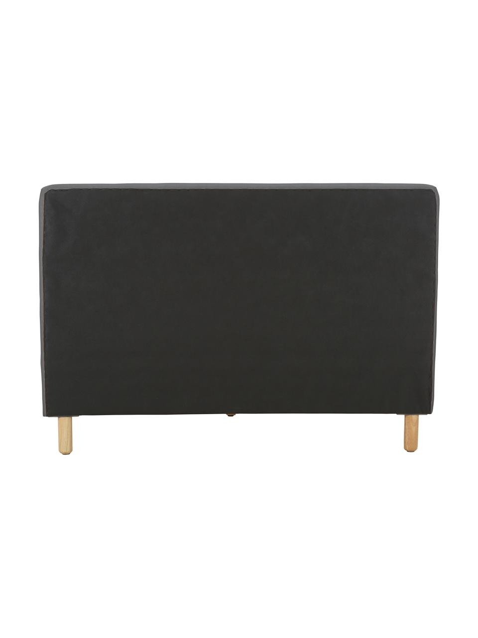 Gestoffeerd bed Celeste, Frame: massief grenenhout, multi, Bekleding: polyester (gestructureerd, Poten: massief rubberhout, gelak, Stof grijs, 180 x 200 cm
