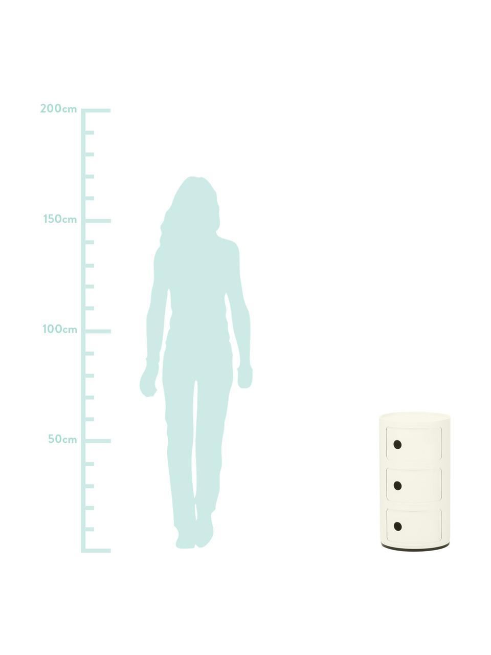 Table d'appoint design 3 compartiments Componibile, Blanc