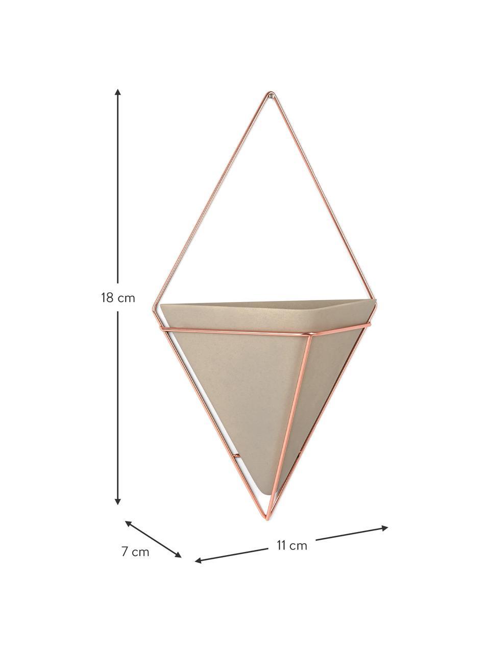 Compartiments de rangement muraux Trigg, 2pièces, Gris, cuivre mat