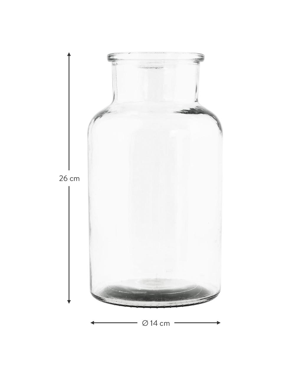 Vase en verre transparent Jaredya, Transparent