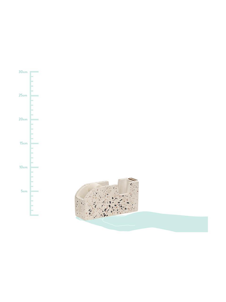 Dispenser per nastri Renomel, Terrazzo alla veneziana, Bianco, rosso, nero, Larg. 15 x Alt. 7 cm