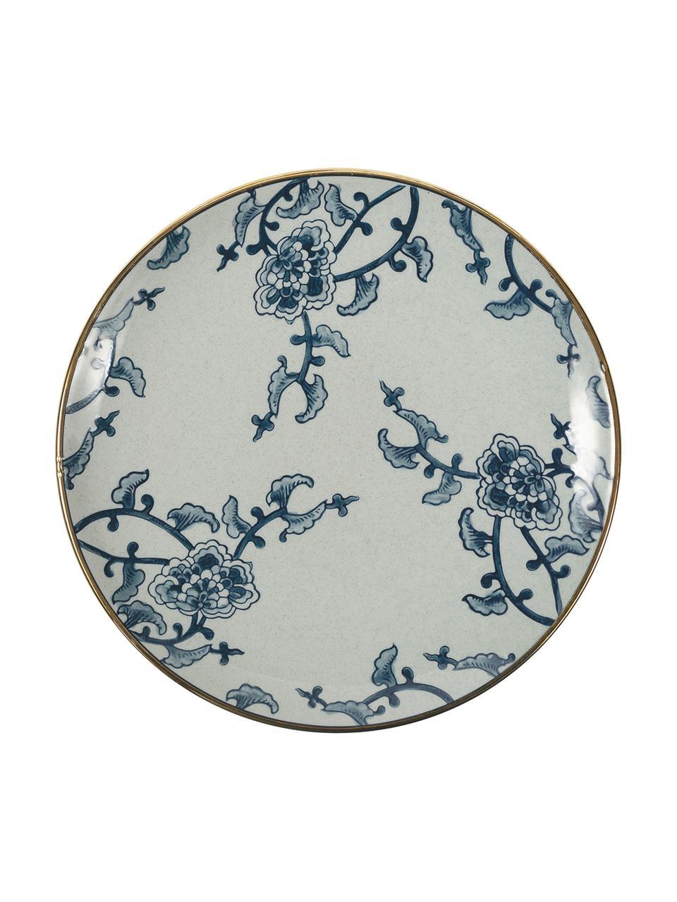 Set 18 piatti per 6 persone Hamasei, Porcellana, Bianco, blu scuro, Set in varie misure