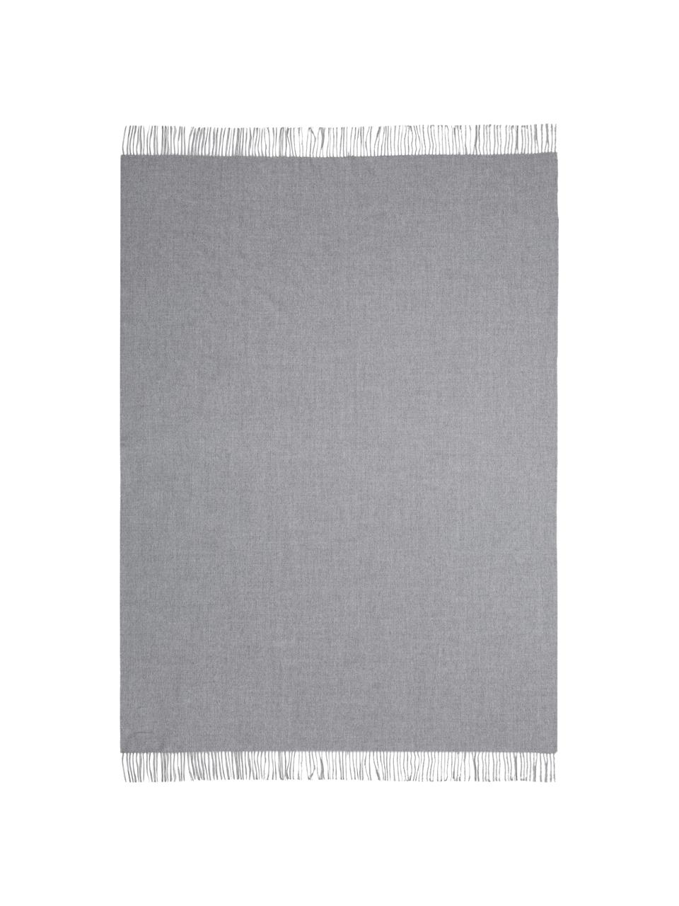 Plaid in baby alpaca Luxury, Grigio, P 130 x L 200 cm