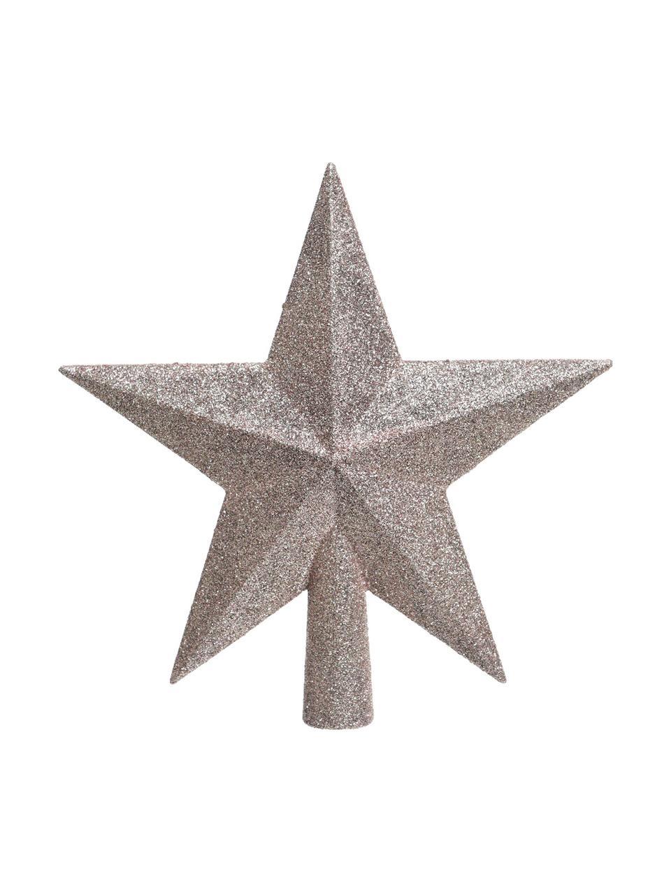 Puntale per albero Stern, Materiale sintetico, glitter, Rosa, Larg. 19 x Alt. 19 cm