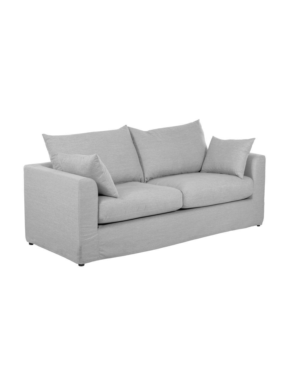 Canapé 2places gris Zach, Tissu gris