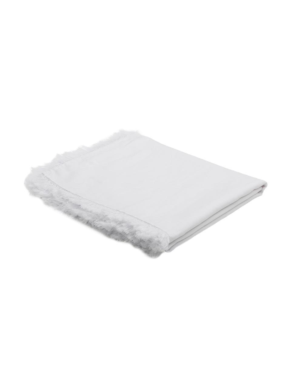 Tovaglia in lino Lucka, Lino, Bianco, Per 6-8 persone (Larg. 150 x Lung. 200 cm)