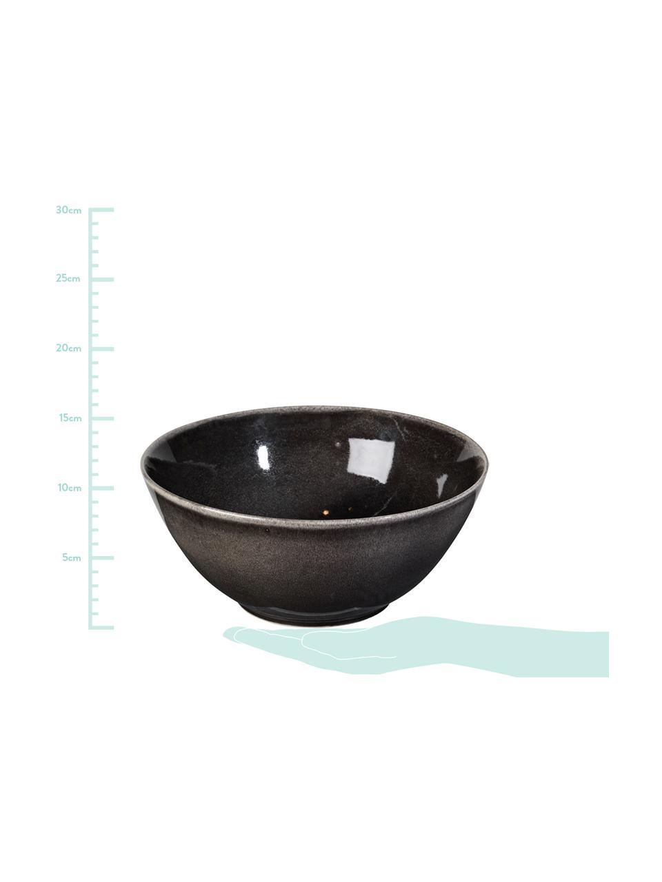 Ręcznie wykonana miska z kamionki Nordic Coal Ø 25 cm, Kamionka, Brązowy, Ø 25 x W 11 cm