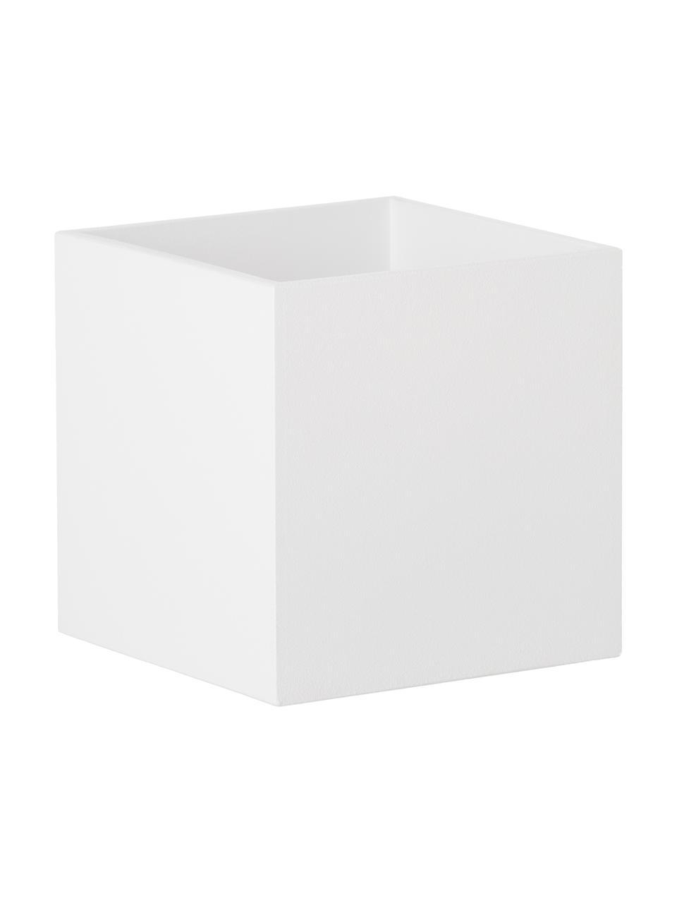 Applique Quad, Alluminio, verniciato a polvere, Bianco, Larg. 10 x Alt. 10 cm