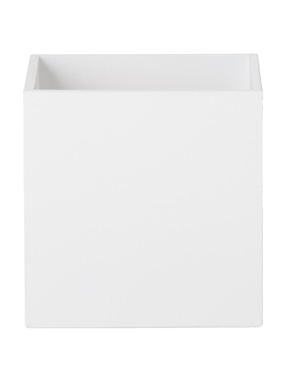 Wandleuchte Quad in Weiß, Lampenschirm: Aluminium, pulverbeschich, Weiß, 10 x 10 cm