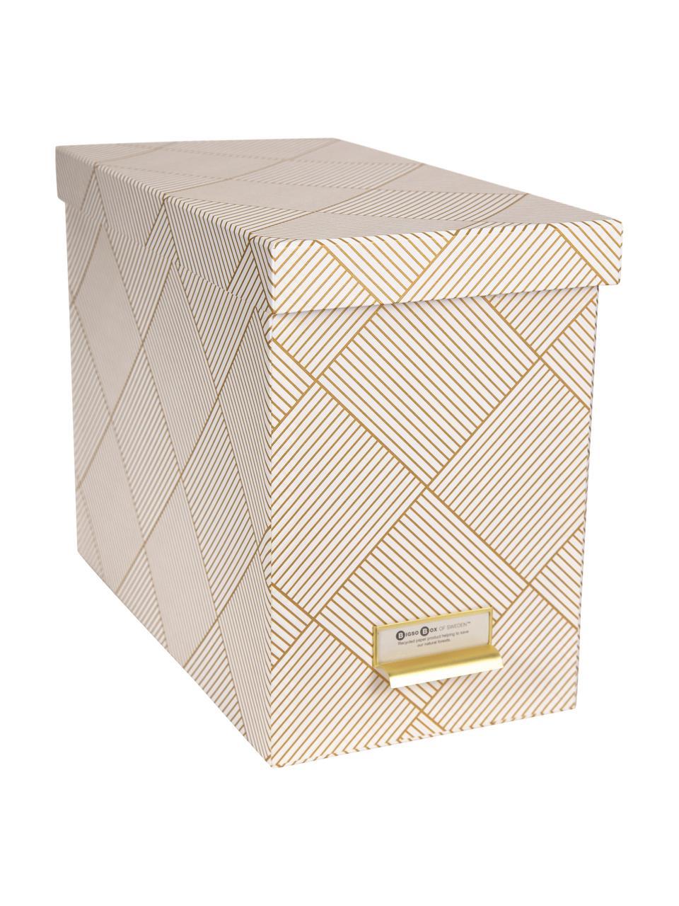 Organizer na dokumenty Johan, 9 elem., Odcienie złotego, biały, S 19 x W 27 cm