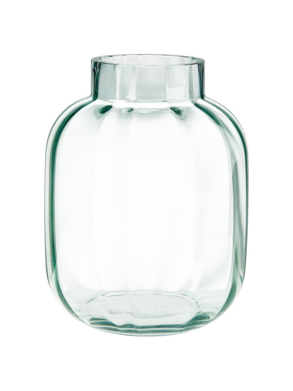 Glazen vaas Betty in lichtgroen, Glas, Lichtgroen, transparant, Ø 18 cm