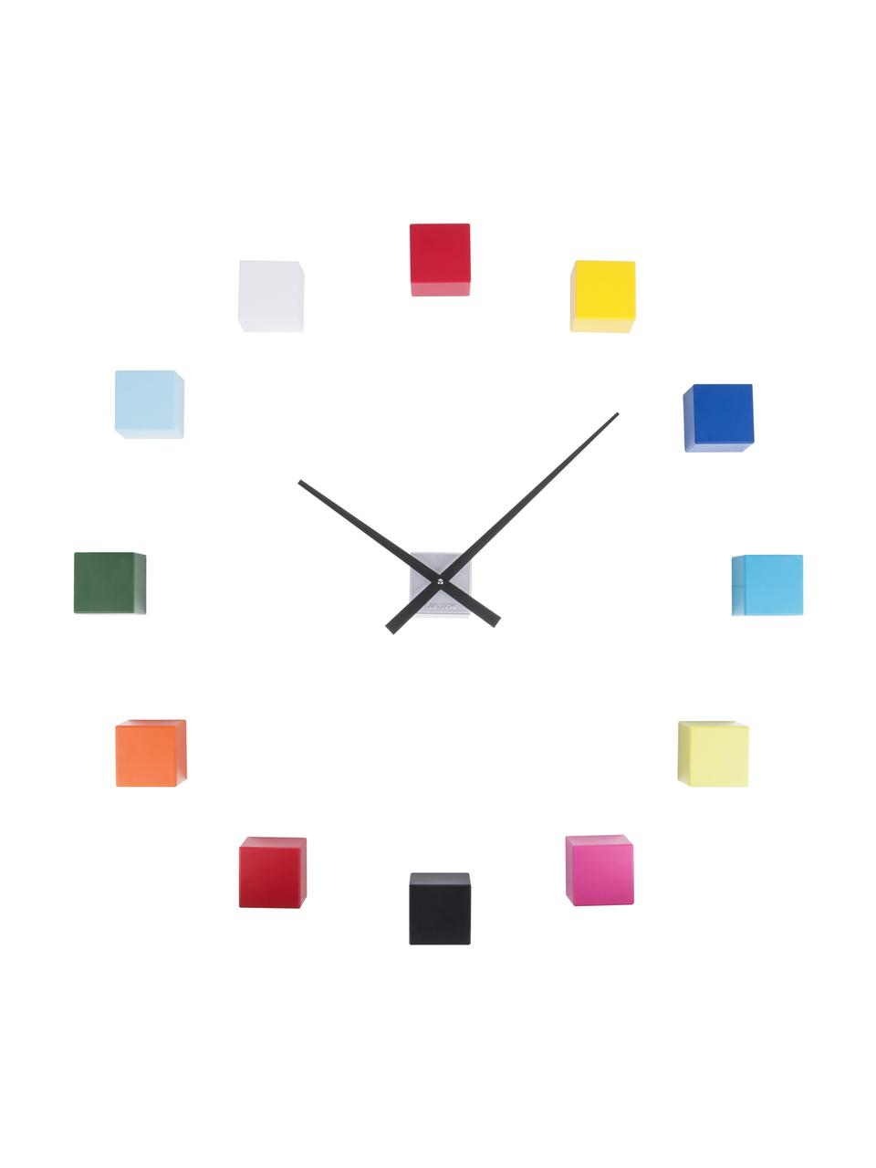 Reloj de pared DIY Cubic, kit de montaje, Plástico, Multicolor, An 6 x Al 6 cm