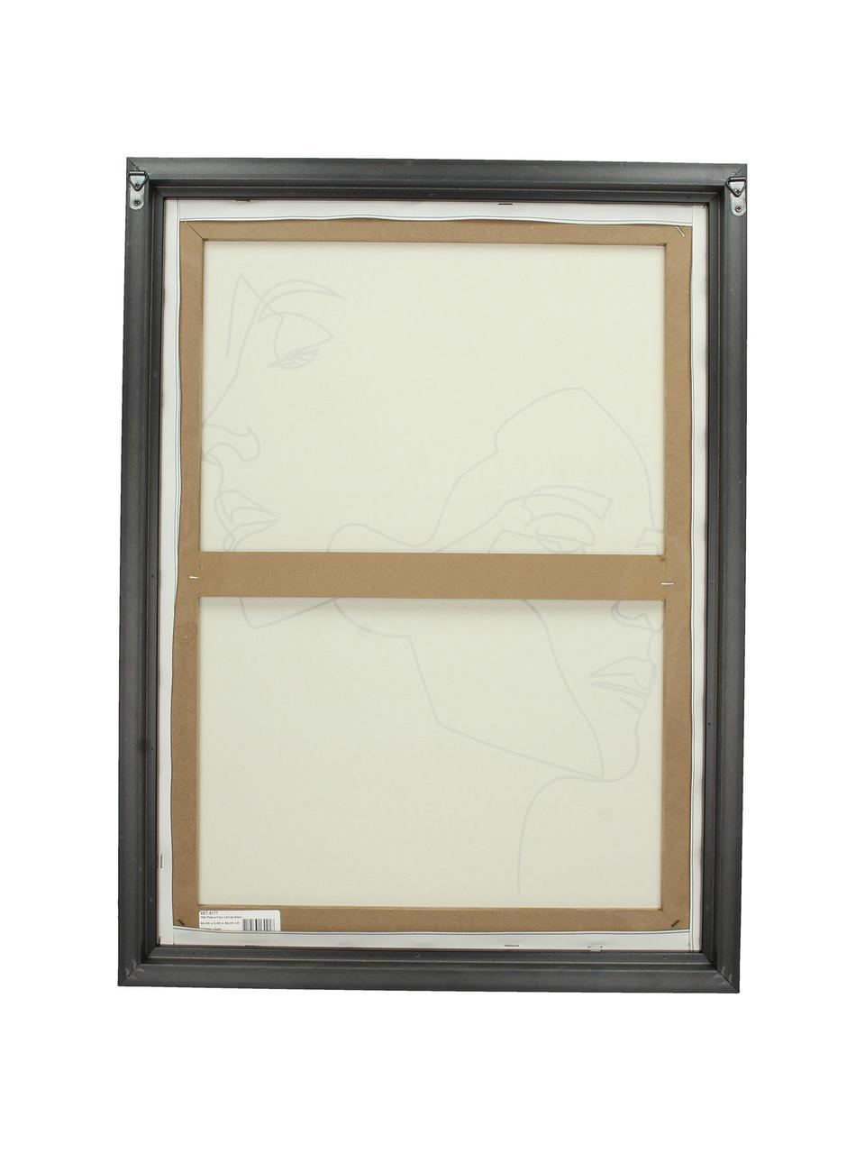 Gerahmter Leinwanddruck Opal, Rahmen: Kunststoff, Bild: Digitaldruck auf Leinen, Weiß, Schwarz, 45 x 60 cm