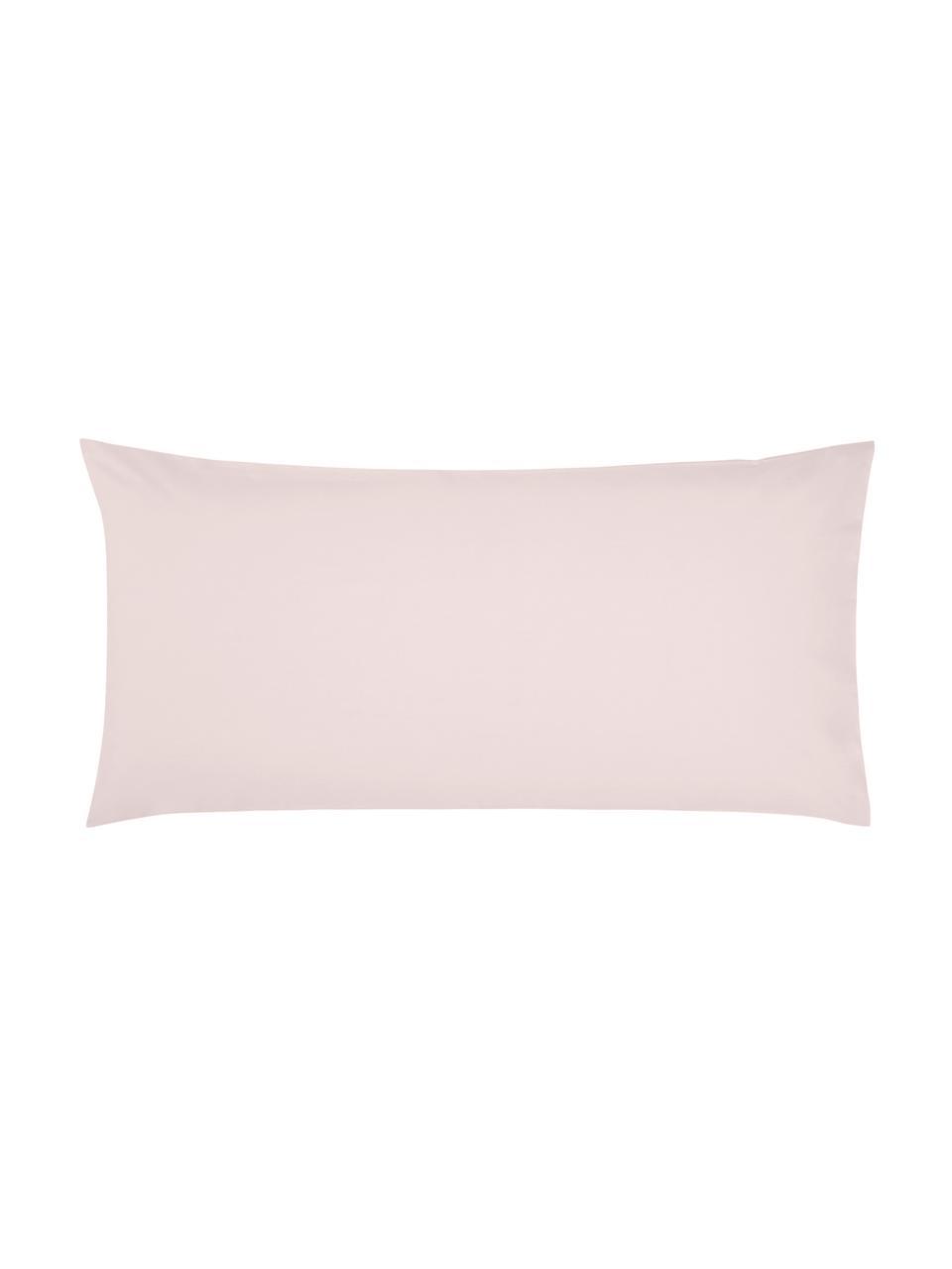 Poszewka na poduszkę z perkalu bawełnianego Elsie, 2 szt., Blady różowy, S 40 x D 80 cm
