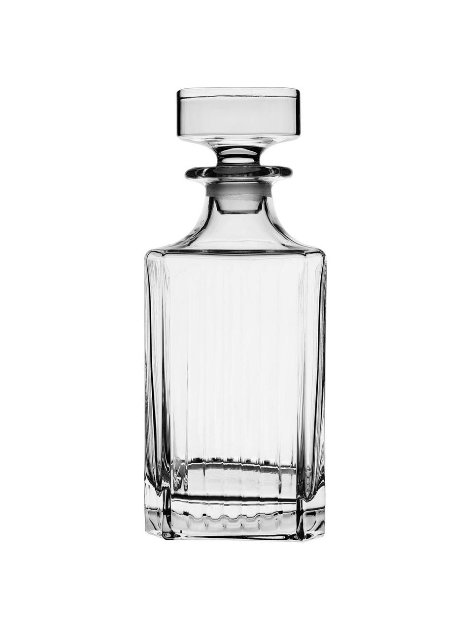 Kristall-Dekanter Timeless mit Rillenrelief, 750 ml, Kristallglas, Transparent, H 24 cm