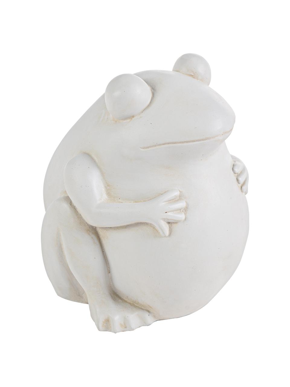 Portavaso Frog, Materiale sintetico, Bianco latteo, Larg. 28 x Alt. 30 cm