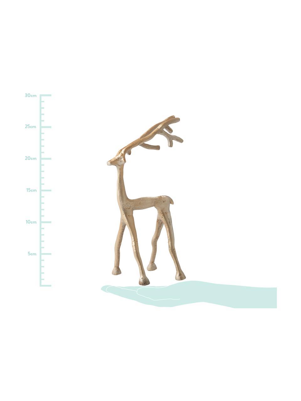 Deko-Objekt Marley Reindeer, Aluminium, beschichtet, Messingfarben, 14 x 27 cm