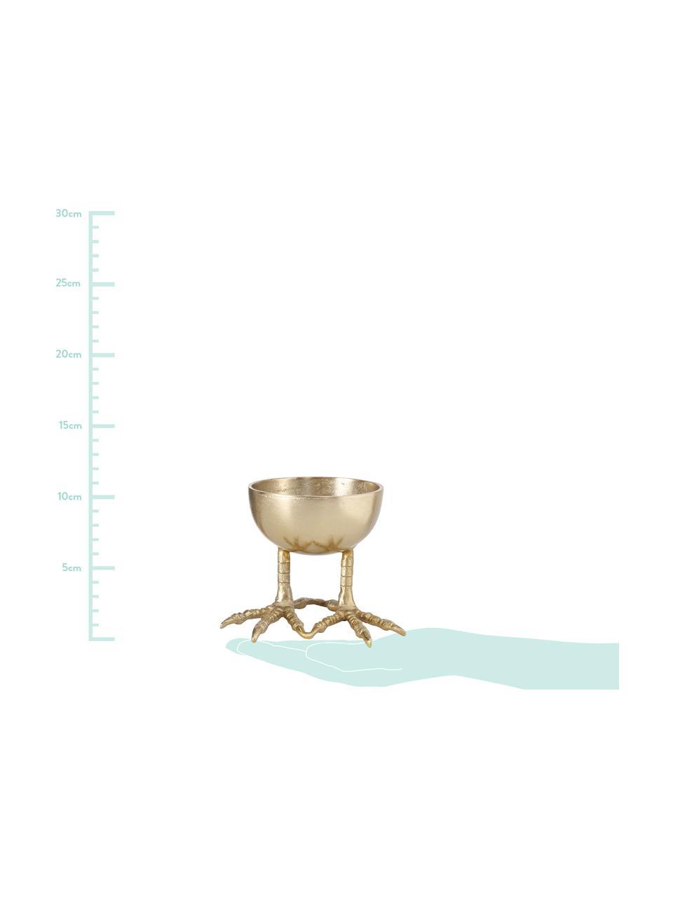 Decoratieve schaal Ostrich, Gecoat aluminium, Messingkleurig, Ø 13 cm