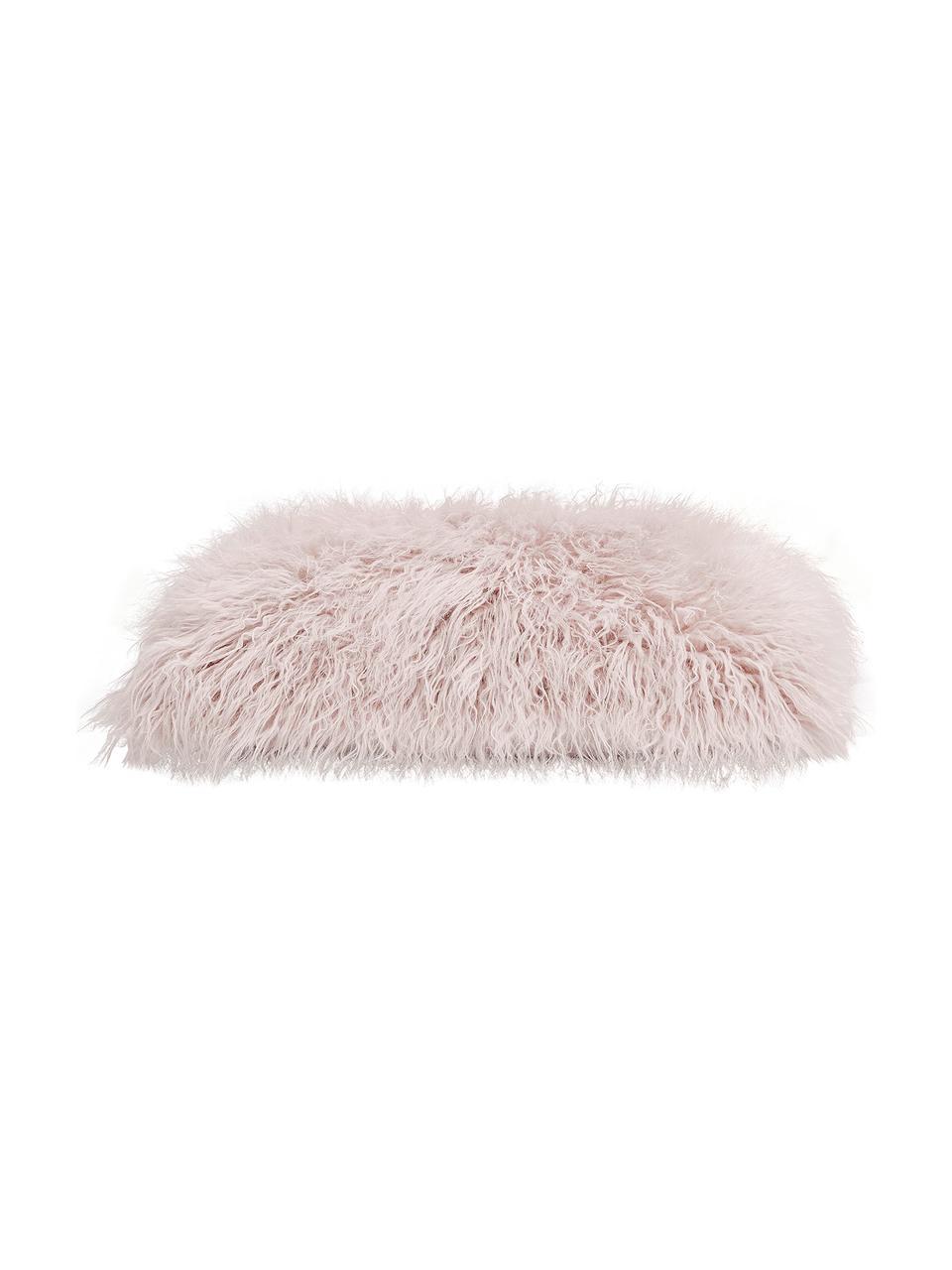 Federa arredo in ecopelliccia rosa Morten, Retro: 100% poliestere, Rosa, Larg. 30 x Lung. 50 cm