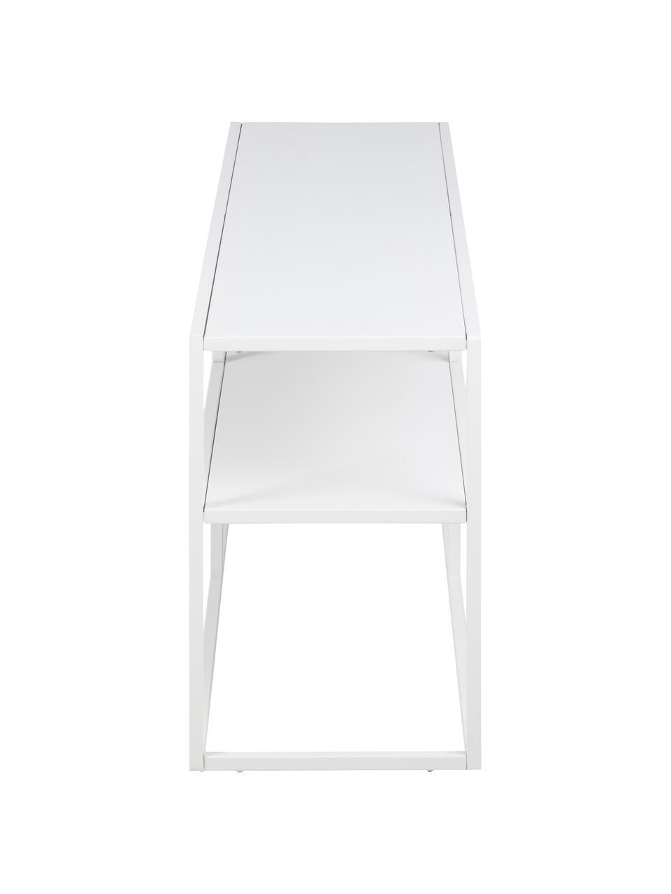 Szafka niska z metalu Newton, Metal malowany proszkowo, Biały, S 120 x W 46 cm