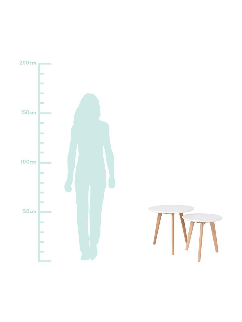 Beistelltisch-Set Bodine im Skandi Design, Tischplatte: Mitteldichte Holzfaserpla, Weiß, Sondergrößen