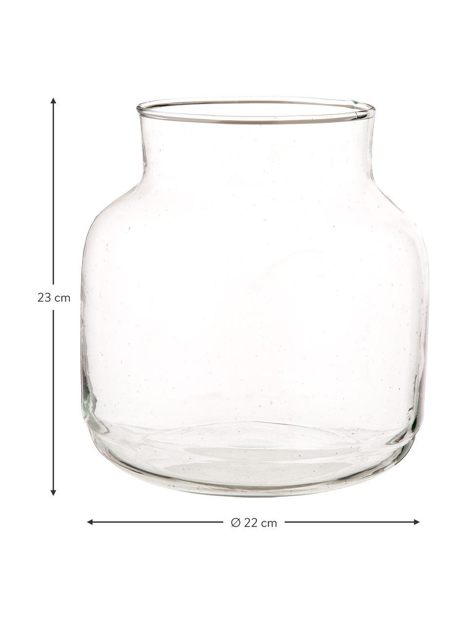Vase en verre soufflé bouche Dona, Transparent