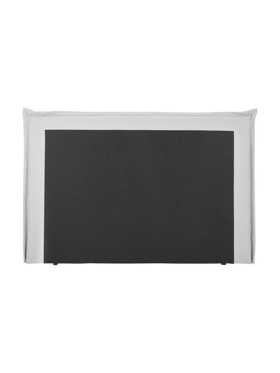 Letto Boxspring in tessuto grigio chiaro con contenitore Premium Violet, Materasso: nucleo a 5 zone di molle , Piedini: legno di betulla massicci, Bianco-grigio chiaro, 160 x 200 cm