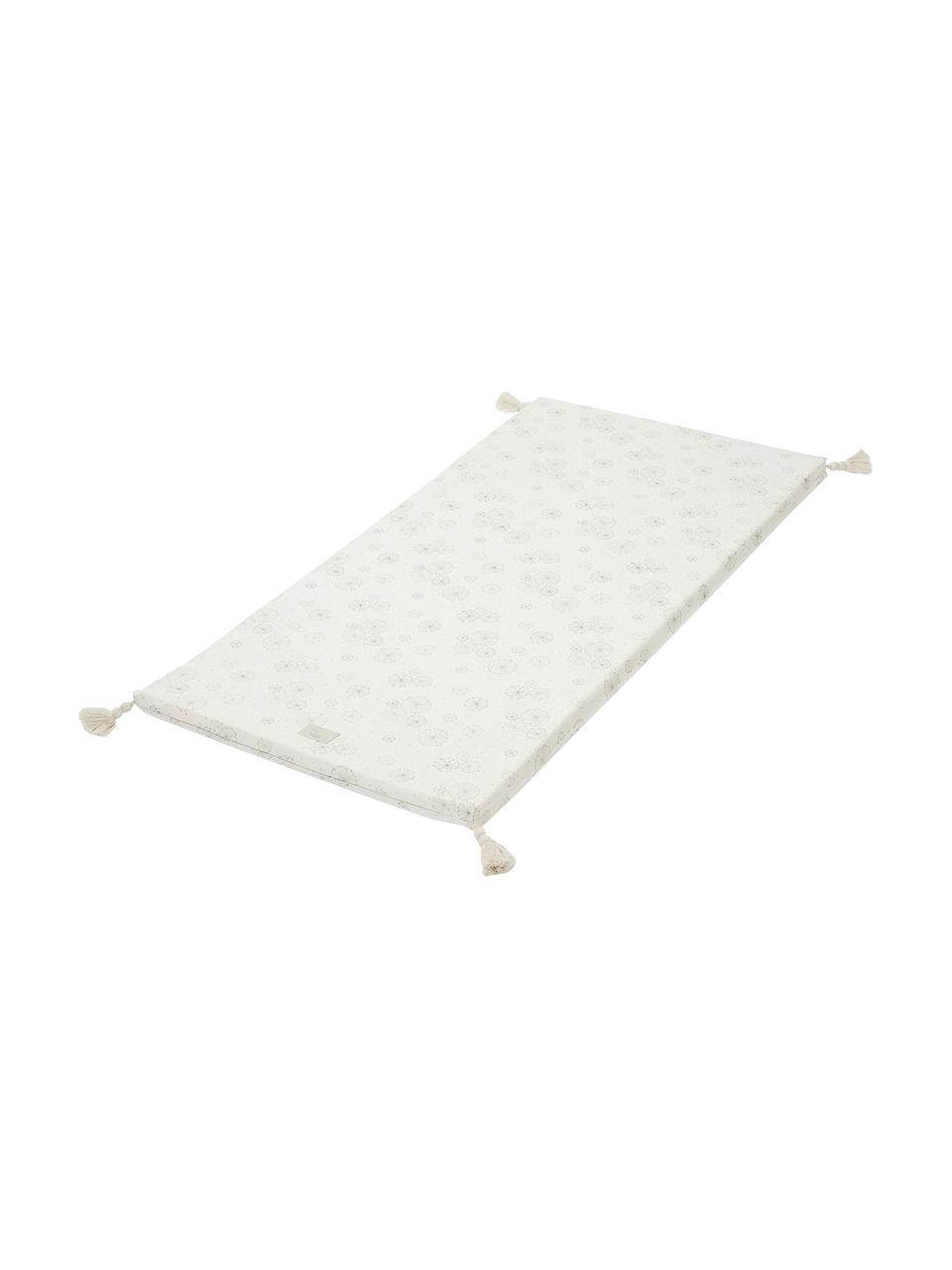 Spielmatte Dandelion aus Bio-Baumwolle, Bezug: 100% Biobaumwolle, OCS-ze, Creme, Beige, 60 x 120 cm