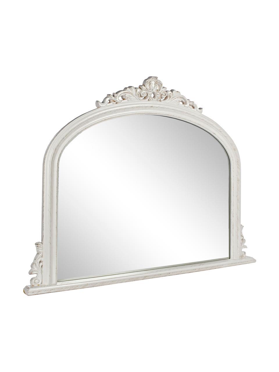 Wandspiegel Miro mit weißem Holzrahmen, Rahmen: Holz, beschichtet, Spiegelfläche: Spiegelglas, Weiß, 120 x 90 cm