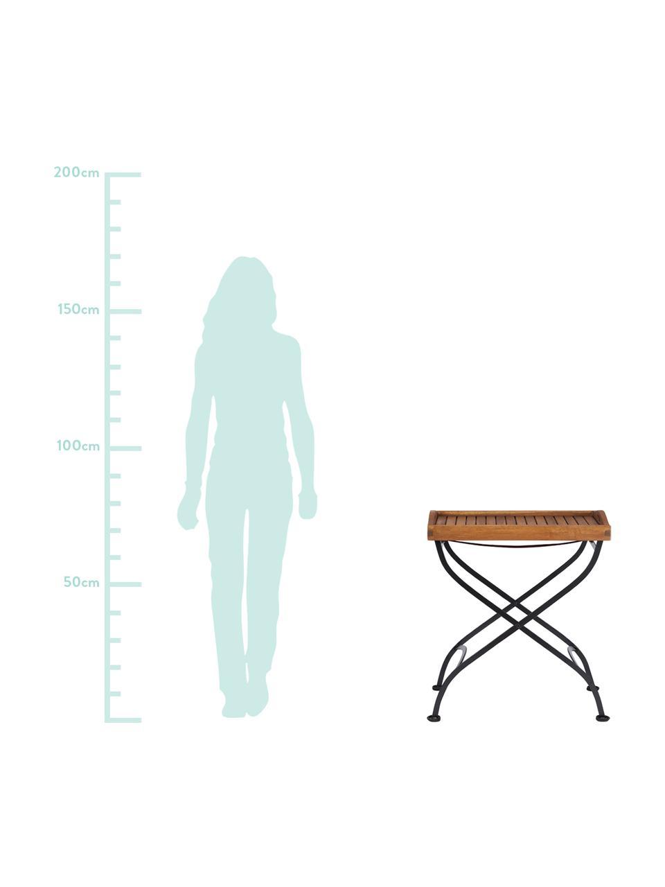 Table de jardin avec plateau amovible en bois Parklife, Noir, bois d'acacia