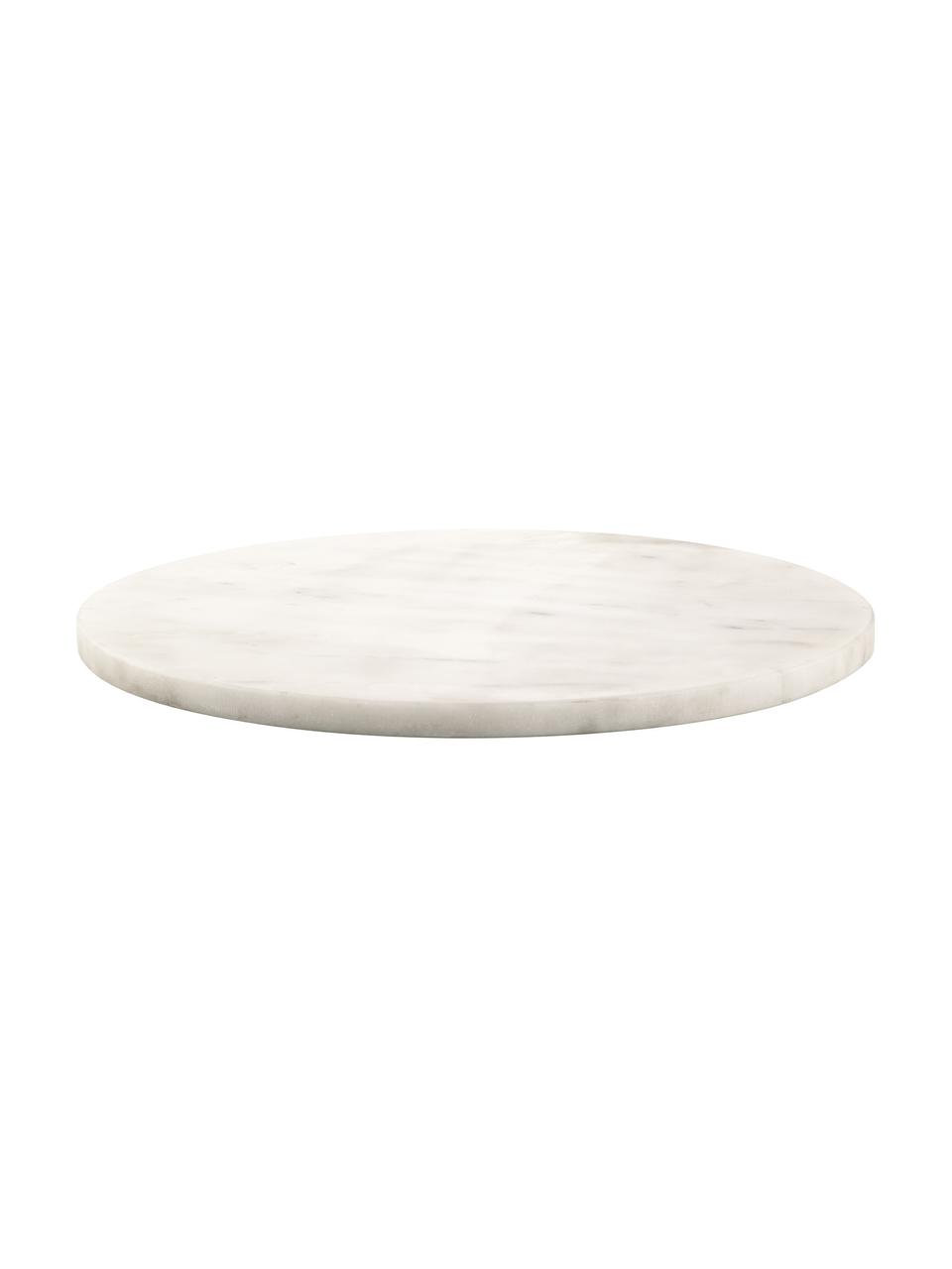 Marmor-Servierplatte Minu, Ø 30 cm, Marmor, Weiß, Ø 30 cm