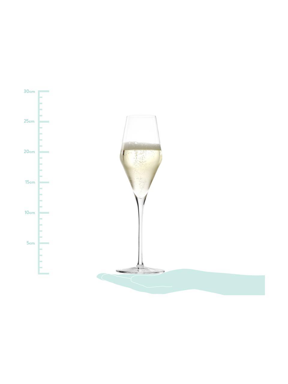 Flûte à champagne en cristal Quatrophil, 6pièces, Transparent