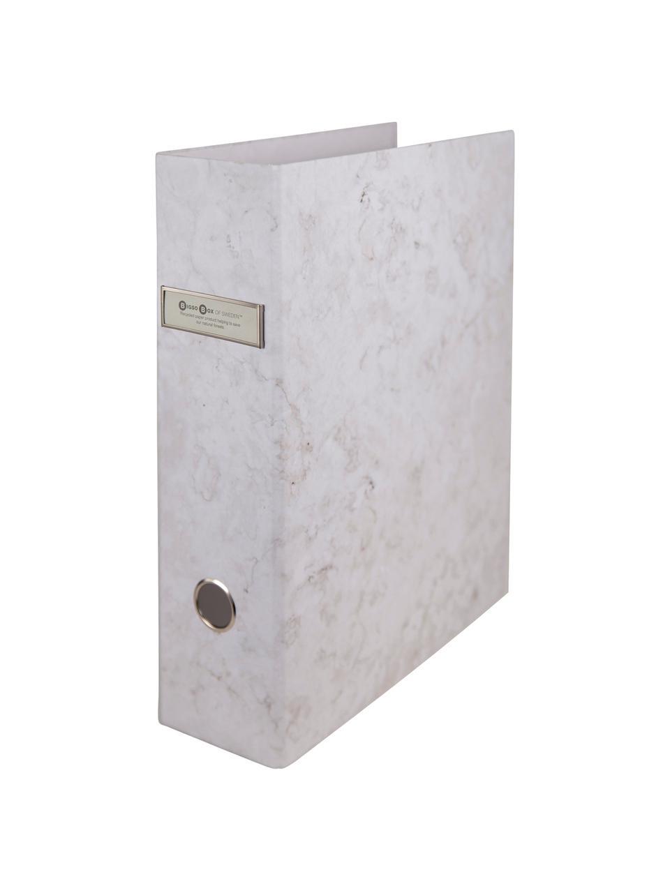 Dokumentenordner Archie, 2Stück, Weiß, marmoriert, 29 x 32 cm