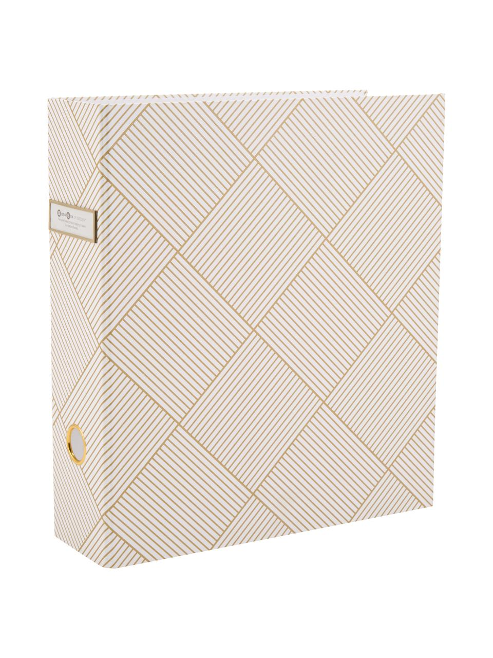 Dokumentenordner Archie, Goldfarben, Weiß, 29 x 32 cm