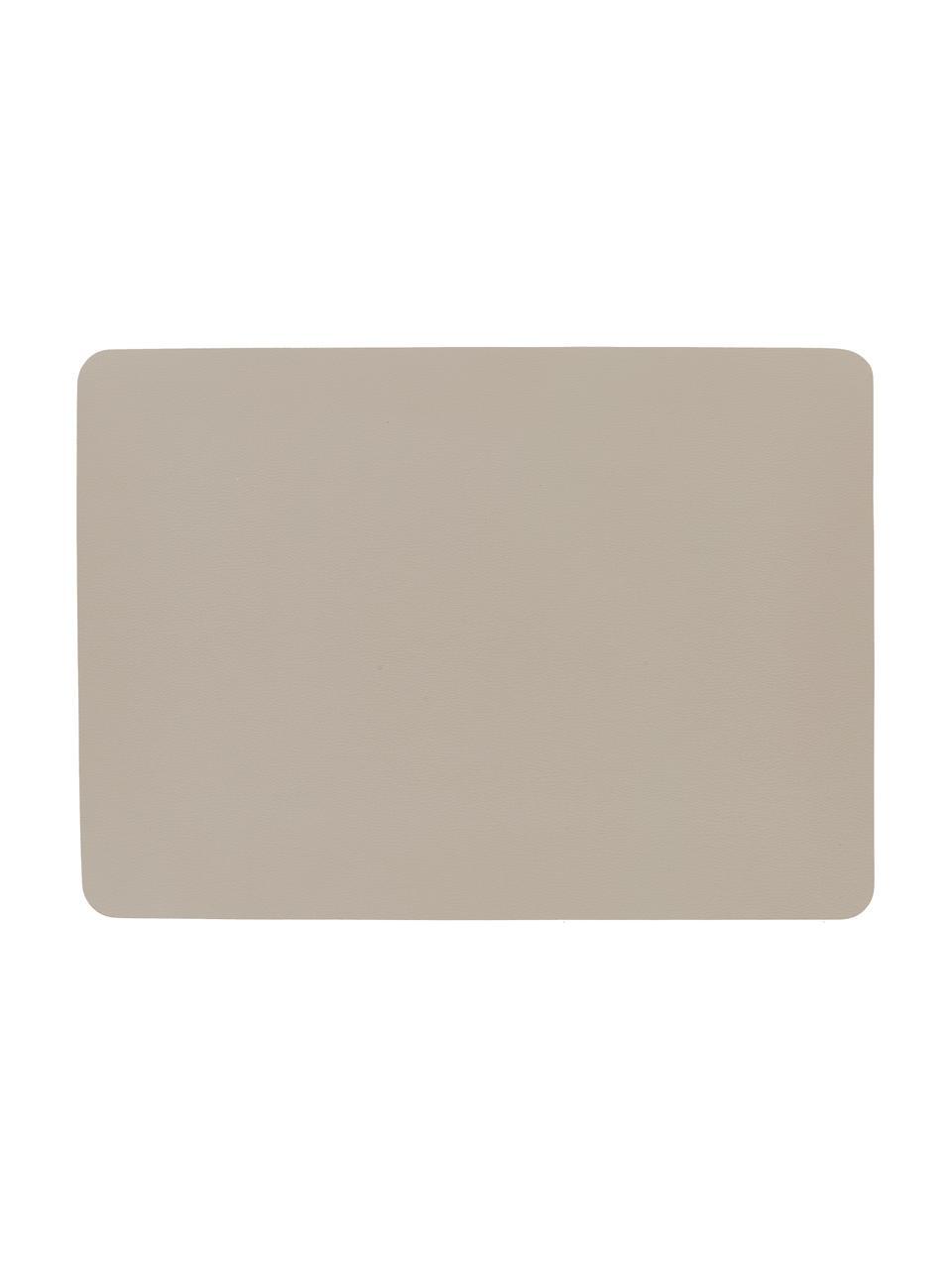 Kunstleder-Tischsets Pik, 2 Stück, Kunstleder (PVC), Beige, 33 x 46 cm